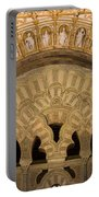 Muslim Arch With Christian Reliefs In Mezquita Portable Battery Charger