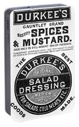Mustard Ad, 1889 Portable Battery Charger