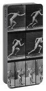 Muybridge Locomotion, Man Running, 1887 Portable Battery Charger