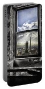 My Favorite Channel Is Manhattan View Portable Battery Charger by Madeline Ellis