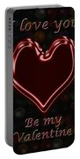 My Heart Is Yours Valentine Card Portable Battery Charger