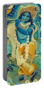 My Krishna Is Blue Portable Battery Charger