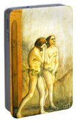 My Masaccio Expulsion Of Adam And Eve Portable Battery Charger