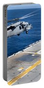 N Mh-60s Sea Hawk Helicopter Lifts Portable Battery Charger