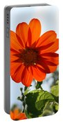 Floral Silhouette Portable Battery Charger