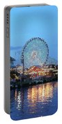 Navy Pier Chicago Digital Art Portable Battery Charger