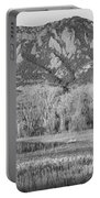 Ncar And Flatiron View Boulder Colorado Bw Portable Battery Charger