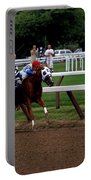 Neck And Neck At Saratoga Two Portable Battery Charger