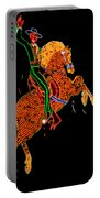 Neon Cowboy Las Vegas Portable Battery Charger by Garry Gay