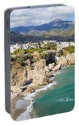 Nerja Town On Costa Del Sol In Spain Portable Battery Charger