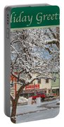 New England Christmas Portable Battery Charger by Joann Vitali