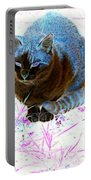 New Kitty Blue Portable Battery Charger
