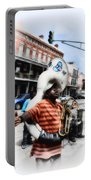 New Orleans Street Musician - Tuba Man Portable Battery Charger