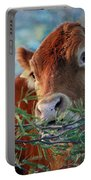 New Years Morning Cow Portable Battery Charger