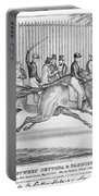New York: Horse Race, 1845 Portable Battery Charger