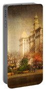 New York In April Portable Battery Charger by Svetlana Sewell