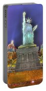 New York In Las Vegas Portable Battery Charger by Nicholas  Grunas