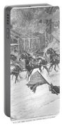 New York: Snowstorm, 1887 Portable Battery Charger