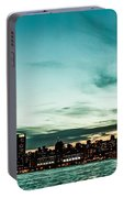 New Yorks Skyline At Night Ice 1 Portable Battery Charger