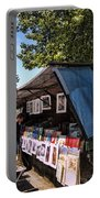 Newstand Along The Seine Portable Battery Charger