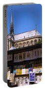 Newstand Next To Notre Dame Portable Battery Charger