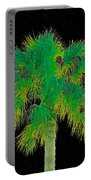 Night Of The Green Palm Portable Battery Charger