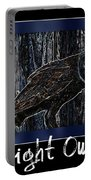 Night Owl Poster - Digital Art Portable Battery Charger