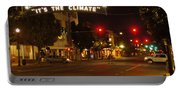 Night Scene At 6th And G Portable Battery Charger