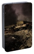Nightfall Over Hard Time - San Quentin California State Prison - 5d18454 - Partial Sepia Portable Battery Charger