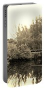 North Fork River In Sepia Portable Battery Charger