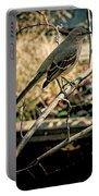 Northern Mockingbird On The Highline Portable Battery Charger