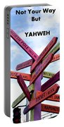 Not Your Way But Yahweh Portable Battery Charger