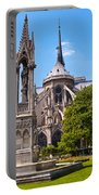 Notre Dame Cathedral Backside Portable Battery Charger