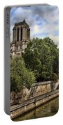Notre Dame On The Seine Portable Battery Charger