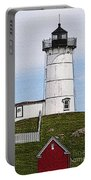 Nubble Lighthouse- Canvas Portable Battery Charger by Luke Moore