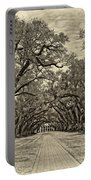 Oak Alley 3 Antique Sepia Portable Battery Charger
