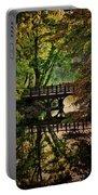 Oak Bridge In Fall Portable Battery Charger
