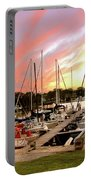 Oak Pt Harbor At Sunset Portable Battery Charger