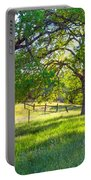 Oak Trees In The Spring Portable Battery Charger