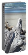 Ocean Beach Driftwood Art Prints Coastal Shore Portable Battery Charger