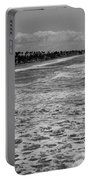 Oceanside In Black And White Portable Battery Charger