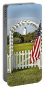Ocracoke Lighthouse July 4th Portable Battery Charger by Bill Swindaman
