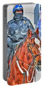 Officer On Brown Horse Portable Battery Charger