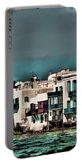 Oill Paint Effect Mykonos Greece Portable Battery Charger