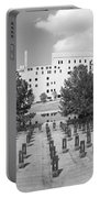 Oklahoma City National Memorial Black And White Portable Battery Charger