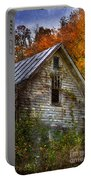 Old Abandoned House In Fall Portable Battery Charger