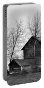 Old Barn In Monochrome Portable Battery Charger
