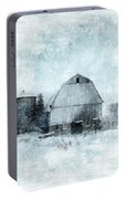 Old Barn In Winter Snow Portable Battery Charger