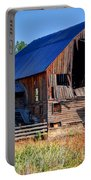 Old Barn With Concrete Grain Silo - Utah Portable Battery Charger