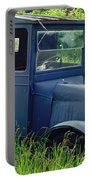 Old Blue Ford Truck Portable Battery Charger